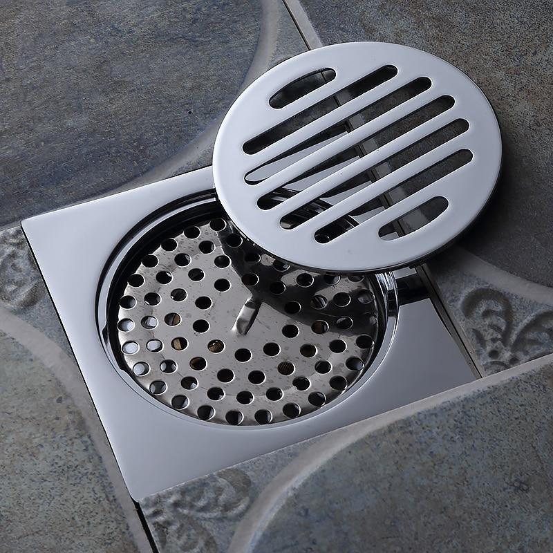 Chrome plated bathroom accessories floor drain kitchen - Chrome plated brass bathroom accessories ...