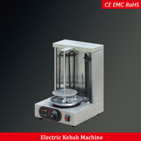 automatic electric mini turkey doner kebab grill machine 1 burner stainless steel shawarma making machine