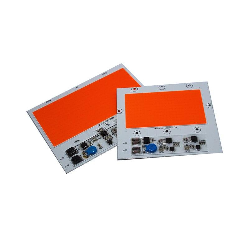 2PCS Full Spectrum Plant Grow COB LED 100W 150w Ac220V High Power Floodlight Bead DOB Chip Anti Lightning 4KV Free Shipping