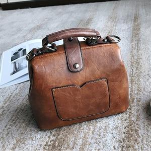 Image 5 - Vintage Small Pu Leather Crossbody Bags for Women Fashion Pendant Design Shoulder Handbag Trending Female Top Handle Tote