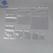100 pz/pacco Gioielli Ziplock Zip Zip Blocco Richiudibili di Plastica Poly Cancella le Borse Spessore 0.05mm