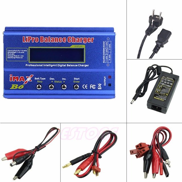 EU Plug  For iMAX B6 AC Lipo NiMh Li-ion Ni-Cd RC Battery Balance Charger Discharger