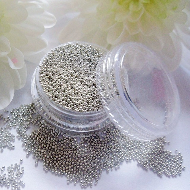 Aliexpress.com : Buy 2 pieces gold silver mini metallic caviar nail ...