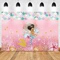 Mehofoto маленькая Русалочка Принцесса фон для фотосъемки детский душ Вечеринка фон розовый Африканский Америка день рождения фон оболочка