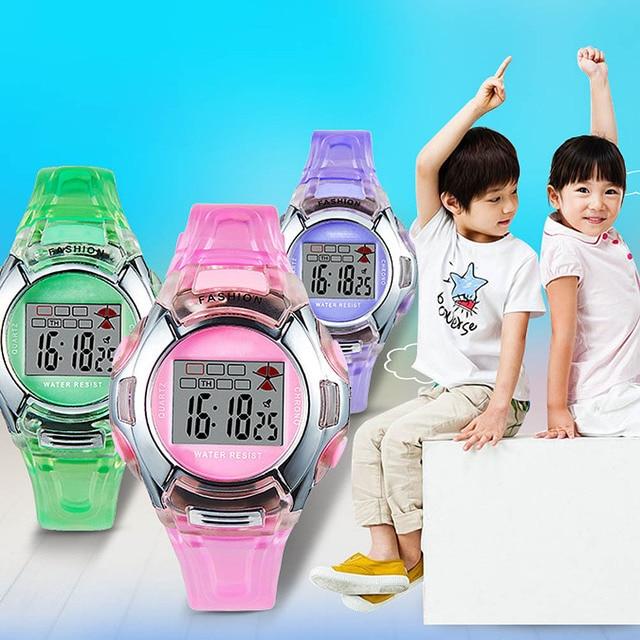 Children Watches Fashion Watches PVC Band Girls Boys Student Electronic Watch Ki