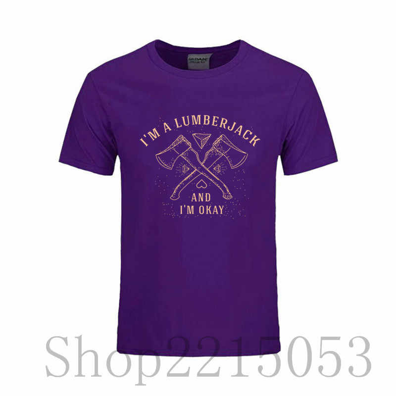 d829a8f40db4b ... 6XL I Am A Lumberjack T Shirt Male Short Sleeve Cotton T-Shirts Men s  Funny ...