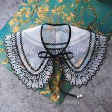 MIARA.L 2019 high quality lace simple sweater collar blouse false shirt for wholesale