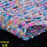 Factory Direct Sale 24x40cm Hotfix Rhinestone Mesh Trimming Crystal Chain Stone Mesh 1pieces Lot Diy Shoe