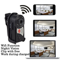 Mini Camara Wifi IP Q7 480P DV DVR Wireless Cam Brand New SP Young Video Camcorder Recorder Infrared Night Vision Espia Candid
