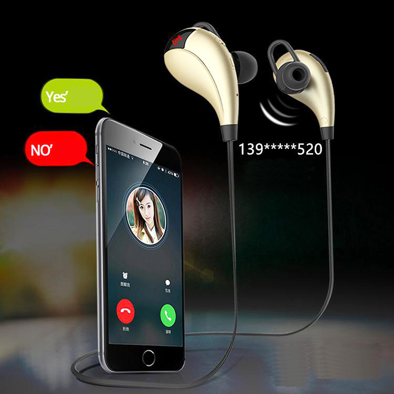 Hot Sports Wireless Bluetooth Neckband Headset Headphone Earphone with MIC for iPhone 5s 6 Plus for Samsung S5 S6 Note Android qcy sets q26 mini business headset car calling wireless headphone bluetooth earphone with mic for iphone 5 6 7 android