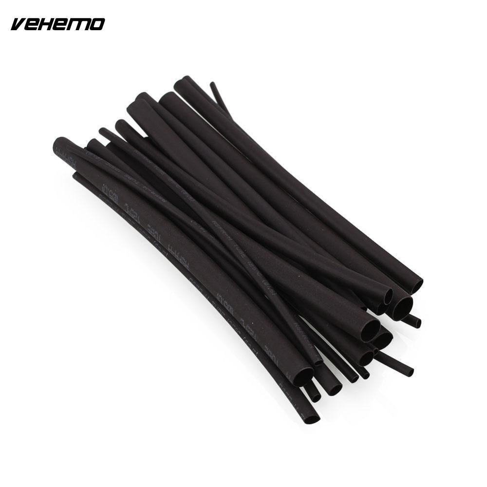 Vehemo 20pcs Black Heatshrink Heat Shrink Tube Assortment Wrap ...