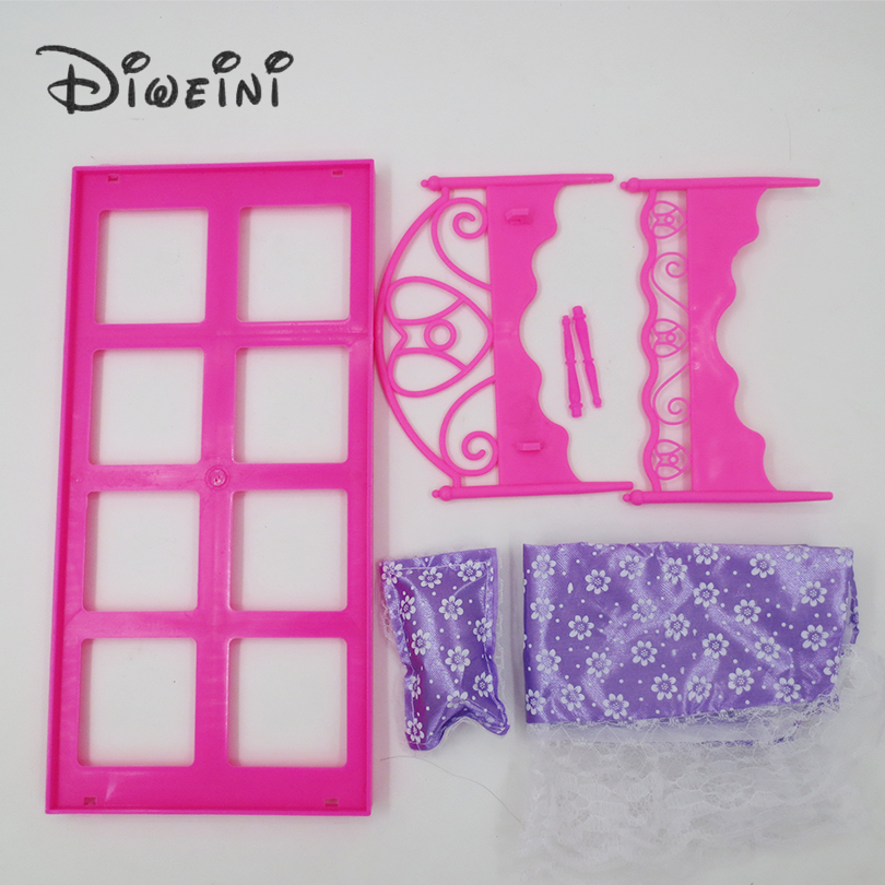 Toys-lace-bed-Barbie-Dollhouse-life-furniture-for-girls-Doll-Accessories-birthday-gift-dolls-for-girls-Pink-Purple-random-4
