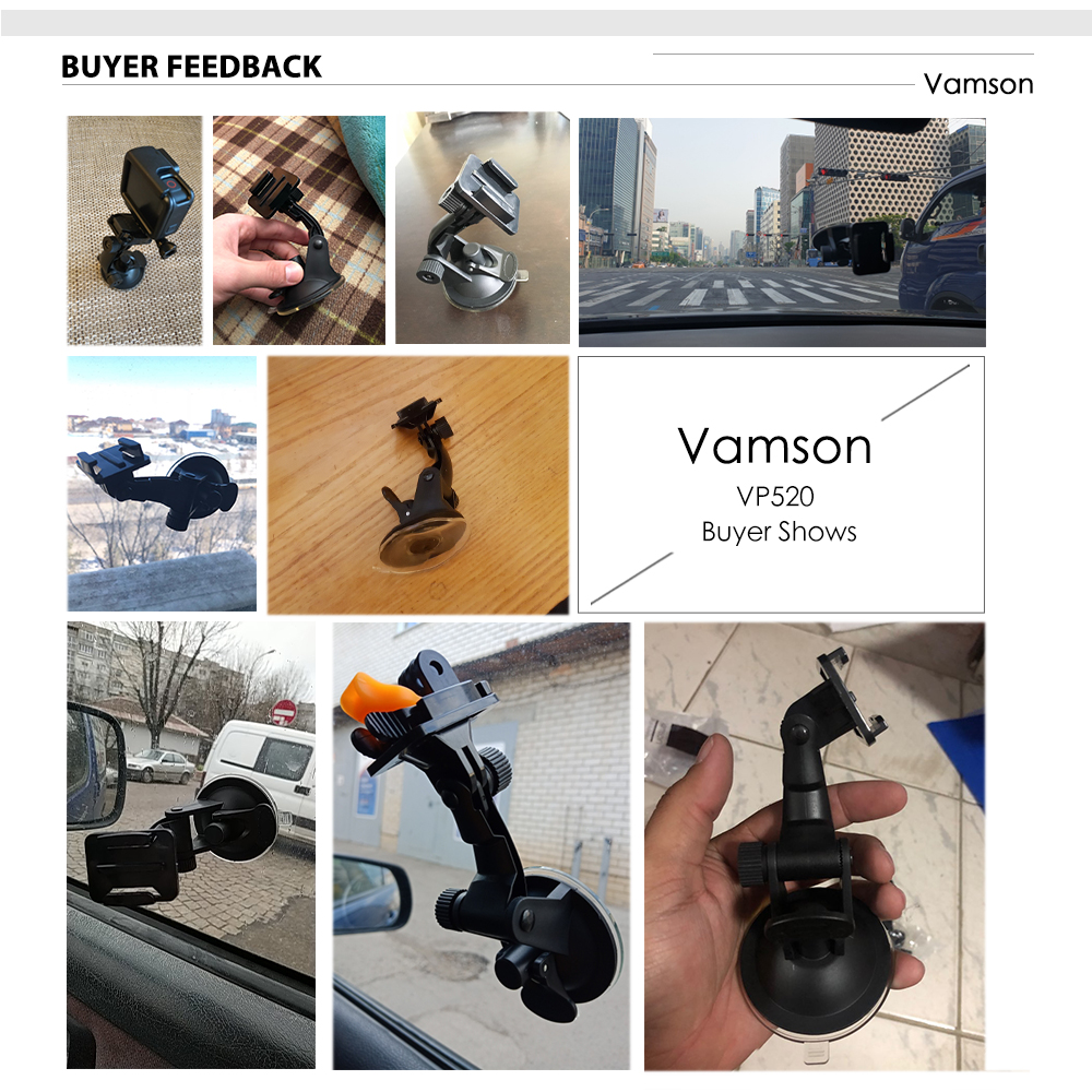 Vamson for Go Pro 8 9 Accessories 7cm Car Mount Windshield Suction Cup for Gopro Hero 9 8 7 6 5 4 for SJCAM for Yi 4K VP520 6