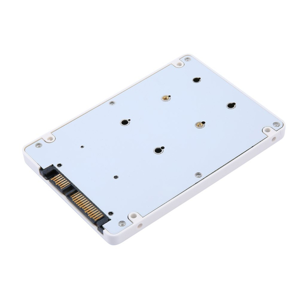 Portable Mini HDD Efficient And Fast Mini 2.5 Inch MSATA SSD to 22 Pin SATA SSD Adapter Box External HDD Mobile Box|HDD Enclosure| |  - title=
