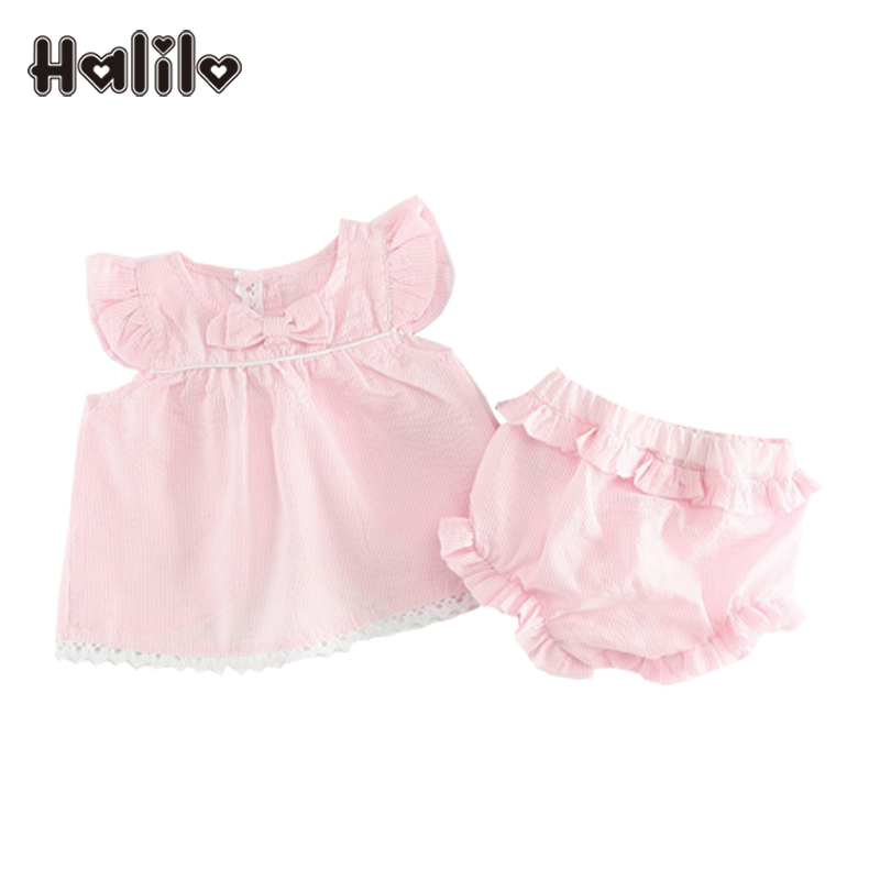 Halilo Baby Girl Outfits Striped Tops Pants 2pcs Summer Baby Girl Clothes Infant Girls Clothing Set Newborn Set Birthday Outfit ...