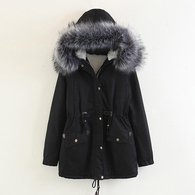 Veste Des Avec Cap 2 Manteau Vêtements Armygreen Parka La Bleu Coréen Épais 3 Femme Femmes Printemps Taille 1 4 Hiver Plus Fqdfp