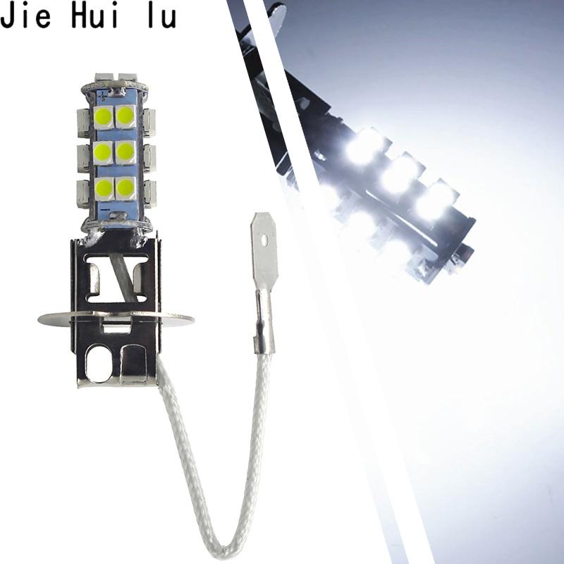 1Pcs H3 Car 1210 3528 SMD 26 LED White Fog Lights Head Light Bulb Lights 12V 3W Fog Lamp Free Shipping