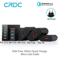 CRDC USB Charger Quick Charge 3.0 Universele Mobiele telefoon Oplader voor iPhone xiaomi redmi 4x Huawei Samsung Quick Charge 3.0