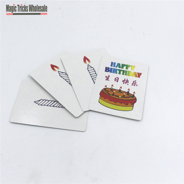 tour de magie carte joyeux anniversaire
