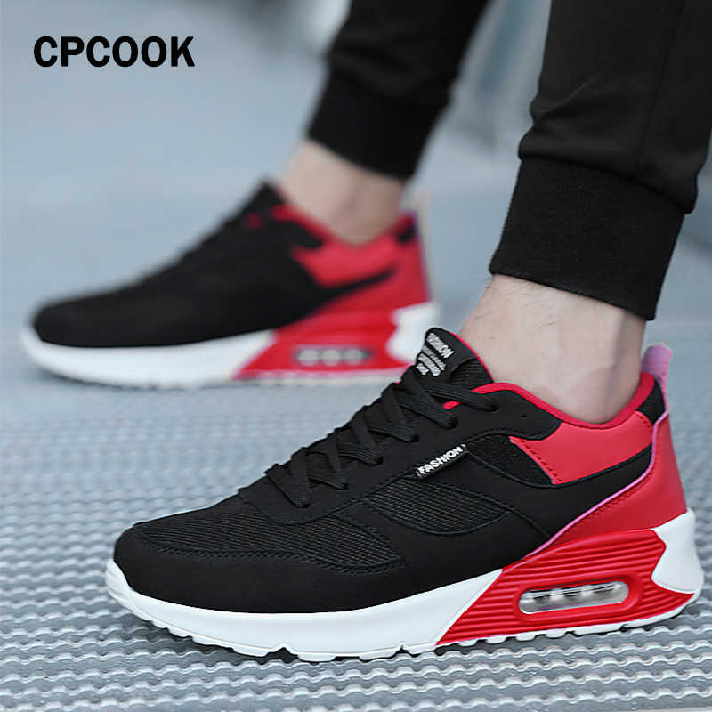 New Mens Running Shoes Spring Breathable Lightweight Man Sneakers Walking Shoes Air Cushion Male Jogging Footwear Sports Shoes
