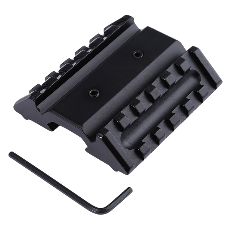Hunting Accessories Military Gear Tactical Dual 45 Degree Offset Mount Picatinny Rail For Sight Flashlight