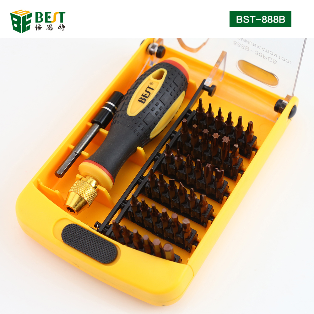 BST-888B Screwdriver 38 in 1 Multifunctional Screwdriver Set for Computer Phone Disassemble Opening Repair Tool Kit Screwdrivers