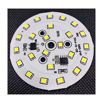 цена на 10PCS/LOT LED Power PCB Board Plate Lamp Panel Aluminum Heat sink 3W 5W 7W 9W 12W 15W 18W Circle Rectangle LED Lamp Chip Base