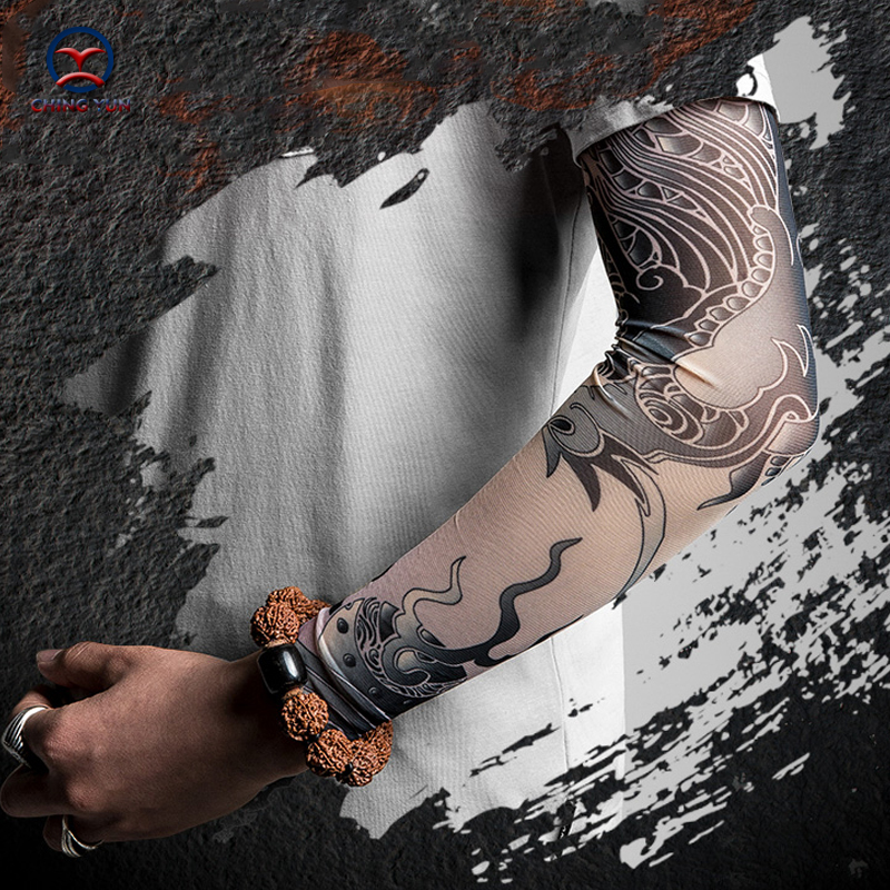 CHING YUN New Fashion Tattoo Sleeves Arm Warmer Unisex UV Protection Outdoor Temporary Fake Tattoo Arm Sleeve Warmer Sleeve DW
