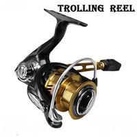 Carretel de pesca Molinete de Alta Velocidade Em 7.1: relação da engrenagem 1 5 + 1BB Acessórios de Metal Roda de Fiar de Pesca Carretel de Pesca do Robalo