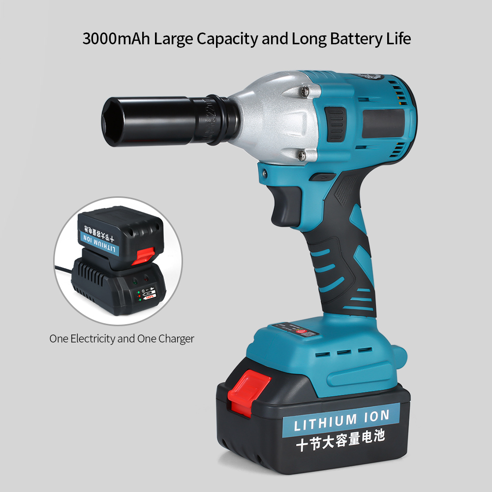 NL721 2600mAh 3000mAh Brushless Electric Impact Wrench Cordless Impact Wrench Power Tool for Disassembly Drill Installation