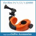 360-градусный поворот Велосипедное Крепление со Штативом Адаптер и Винт для Gopro Hero3 +/3/2/1 sj4000 камеры Аксессуары