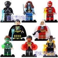 DR TONG 80pcs Lot X0153 Super Heroes Yellow Light The Scarecrow Black Adam Green Lanten Firestorm