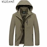 VOOQIANG New Spring Summer Mens Fashion Outerwear Windbreaker Men' S Zipper Warm Jackets Hooded Casual Sporting Coat Big Size