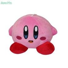 14cm Kirby Plysch Toy Pink Kirby Game Character Mjukt fylld leksak Söt Pendent Dolls for Children Gifts