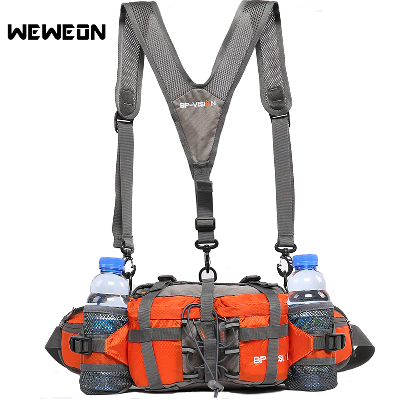 Hot Outdoor Running Bags Hiking Waist Packs Cycling Multifunctional Sport Backpack with Bottle Holders Mountaineering Adventure