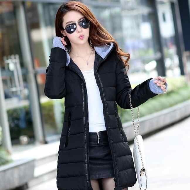 זול סיטונאי עמיד למים סתיו חורף אופנה מקרית נשים מעיל חם מעיל עבה ארוך ליידי מעילי נקבה מעיילים חמים