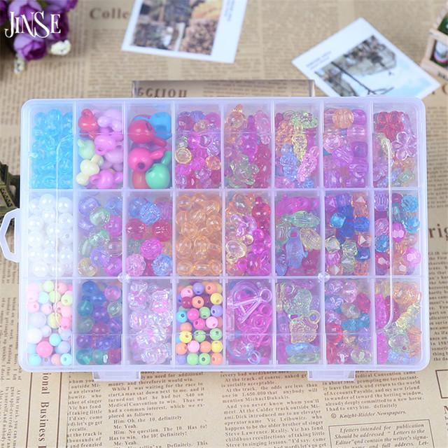JINSE niños joyería Colorida crystal beads animal planta utilizada para hacer pulsera collar DIY accesorios de la joyería SJB002