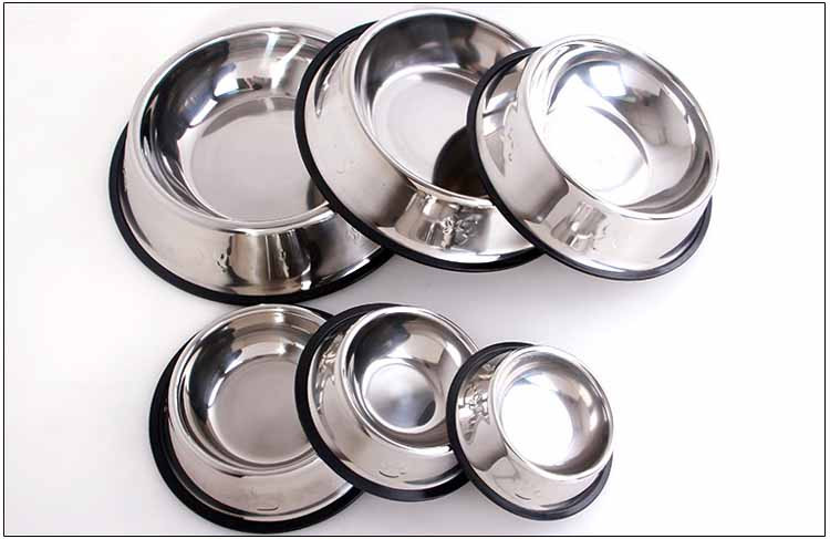 Stainless Steel Dog Feeders Pet Utensils Dog Bowl for Dogs Puppy Food Bowl Durable and Antiskid 6 sizes Pets Products Wholesale5