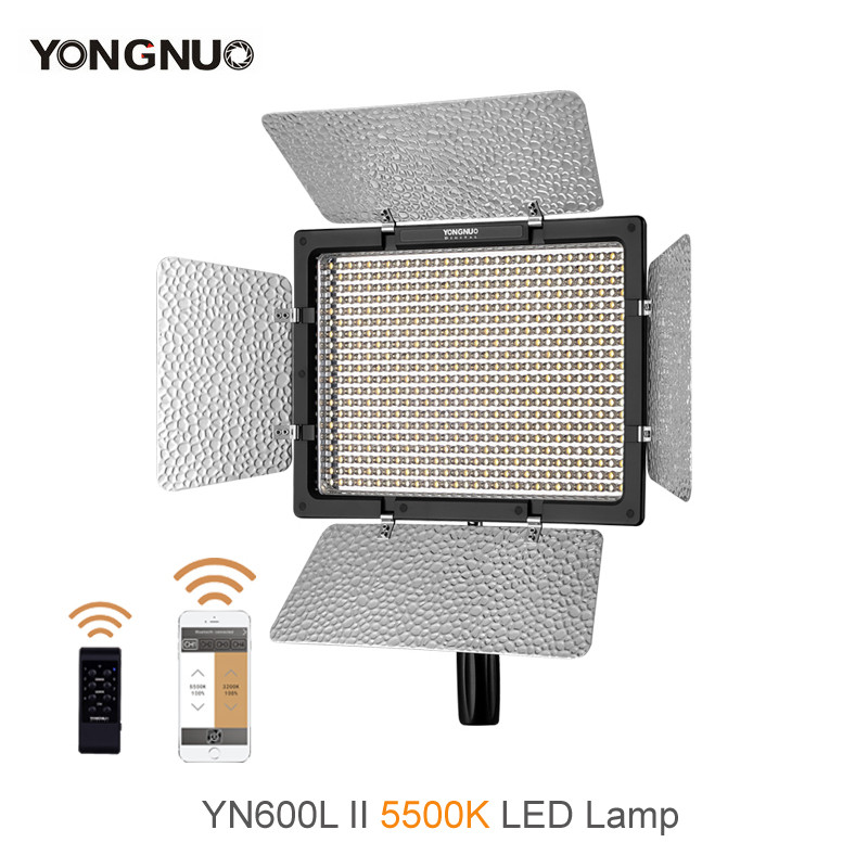 YONGNUO <font><b>YN600L</b></font> <font><b>II</b></font> 5500K YN600 <font><b>II</b></font> 600 Video LED Light Panel 2.4G Wireless Remote Control by Phone App for Interview Camera image