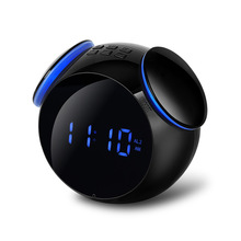 INGELON K11 Bluetooth 4.2 Radio Alarm Clock Speaker With 2 USB Ports LED Digital Alarm Clock Home Decration Snooze Table Clock цена и фото