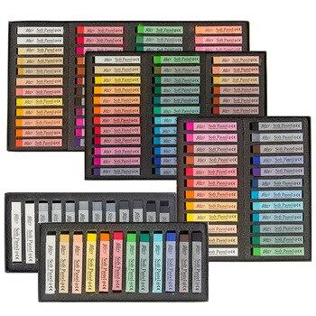 48 لون لينة الباستيل القلم الطباشير الملون الرسم تلوين الشعر مصبوغ اللون يشكلون لون الطلاء مجموعة لوازم الفن العصي DIY بها بنفسك