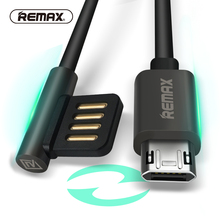 Dual Sided-Micro USB Data Cable Portable 90 Degree plug Charger Cables durable usb Charging for Samsung/xiaomi/Android REMAX