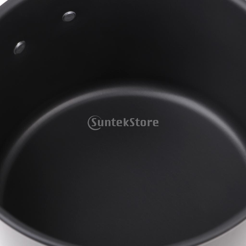 Портативный Открытый Кемпинг Пикник горшок посуда Пособия по кулинарии посуда со складной ручкой и мешок сетки S/M/L