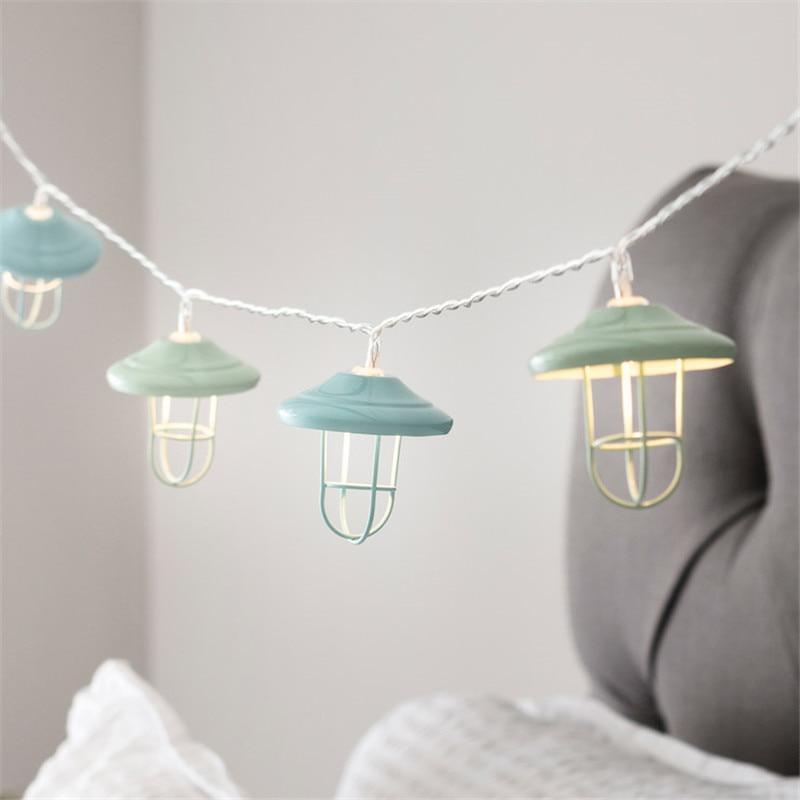 Novelty 10 LED/20 LED Motel Lantern Battery Fairy Lights String Wedding Party Lights DIY for Christmas Xmas Living Bedroom Decor