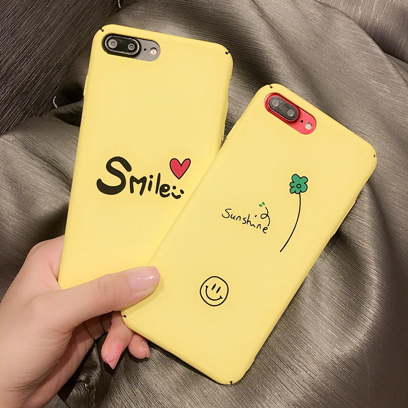 Hehan Little Pink Smile love For iphone7plus Mobile Shell For iphone6s Couple Scrub Hard ...
