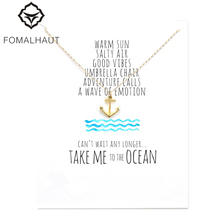 take me to the ocean anchor necklace Pendant necklace Clavicle Chains Fashion Necklace Women FOMALHAUT Jewelry