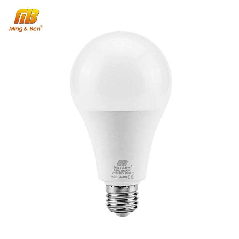 [MingBen] Lámparas LED Bombilla E27 220V Bombilla de CI Inteligente Potencia Real 3W 5W 7W 9W 12W 15W 18W Lámpara de Gran Brillo Bombillas LED