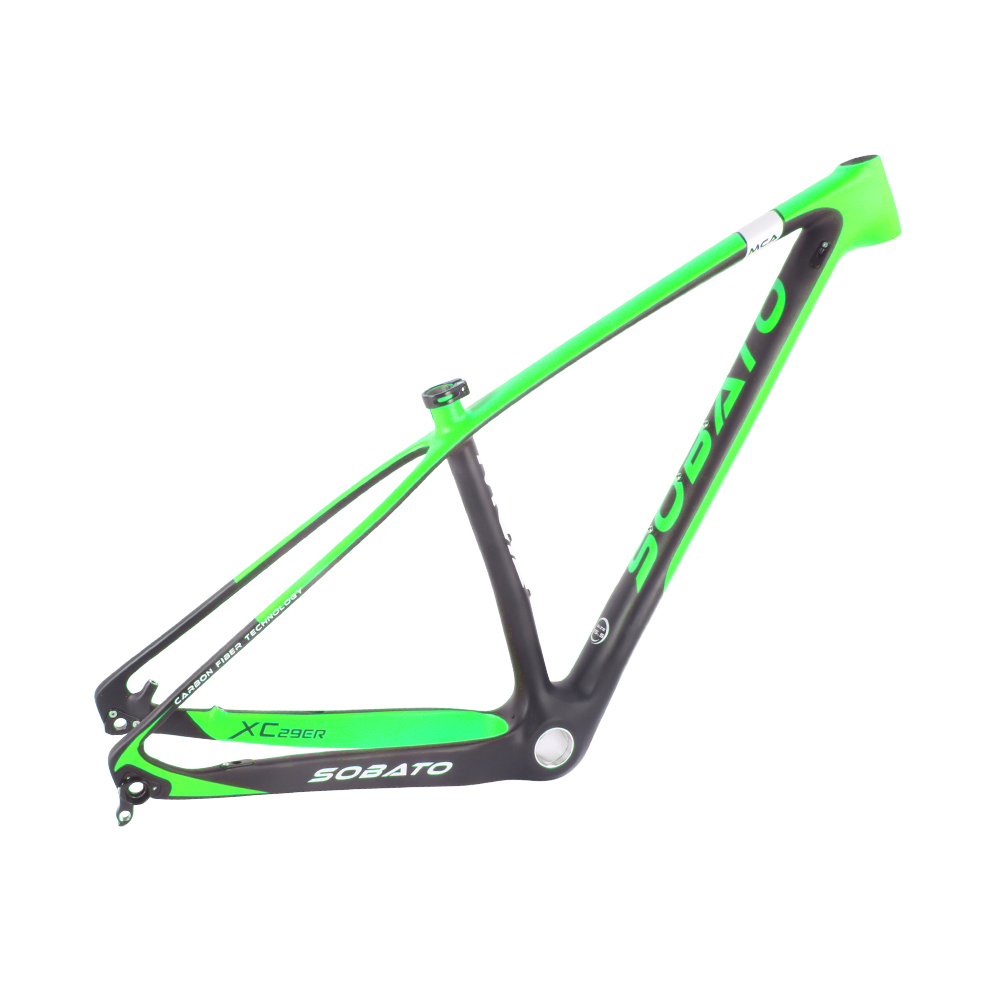 UD matte Green painting T800 mtb carbon 29er frame, bicycle mountain bike frame 29