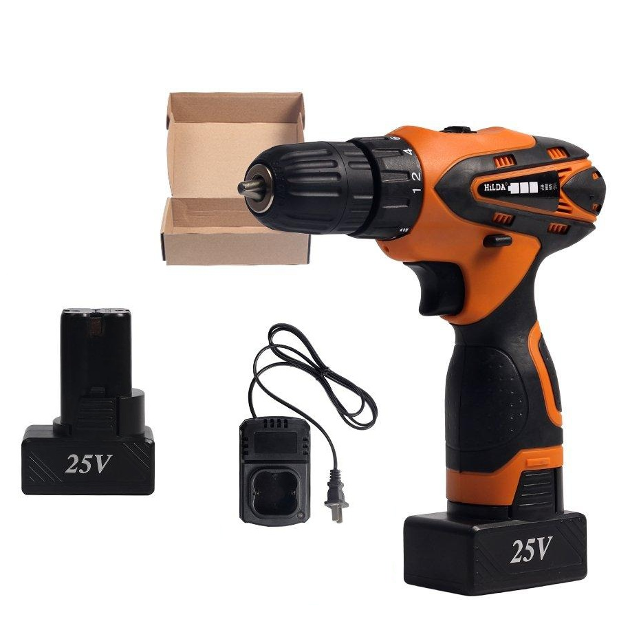 DC 25V Cordless Electric Drill Non-impact Lithium Battery Electric Drill Power Drills цена
