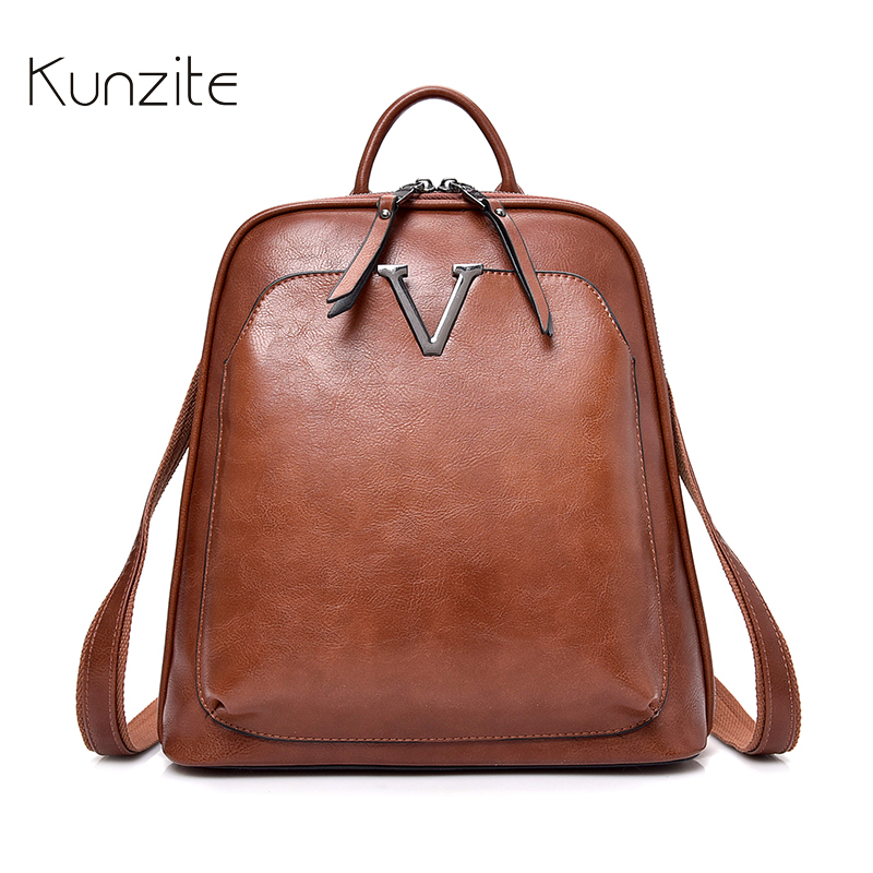 Vintage Backpack Female Brand Leather Women s backpack Large Capacity School Bags for Girls Leisure Shoulder